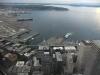 США, Сиэтл (Seattle), вид с небоскреба Colambia Center на порт