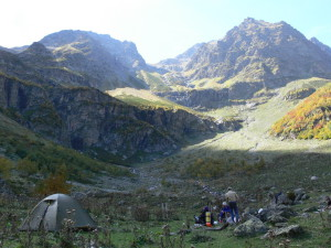 Западный Кавказ Архыз ручей Ак-Айры