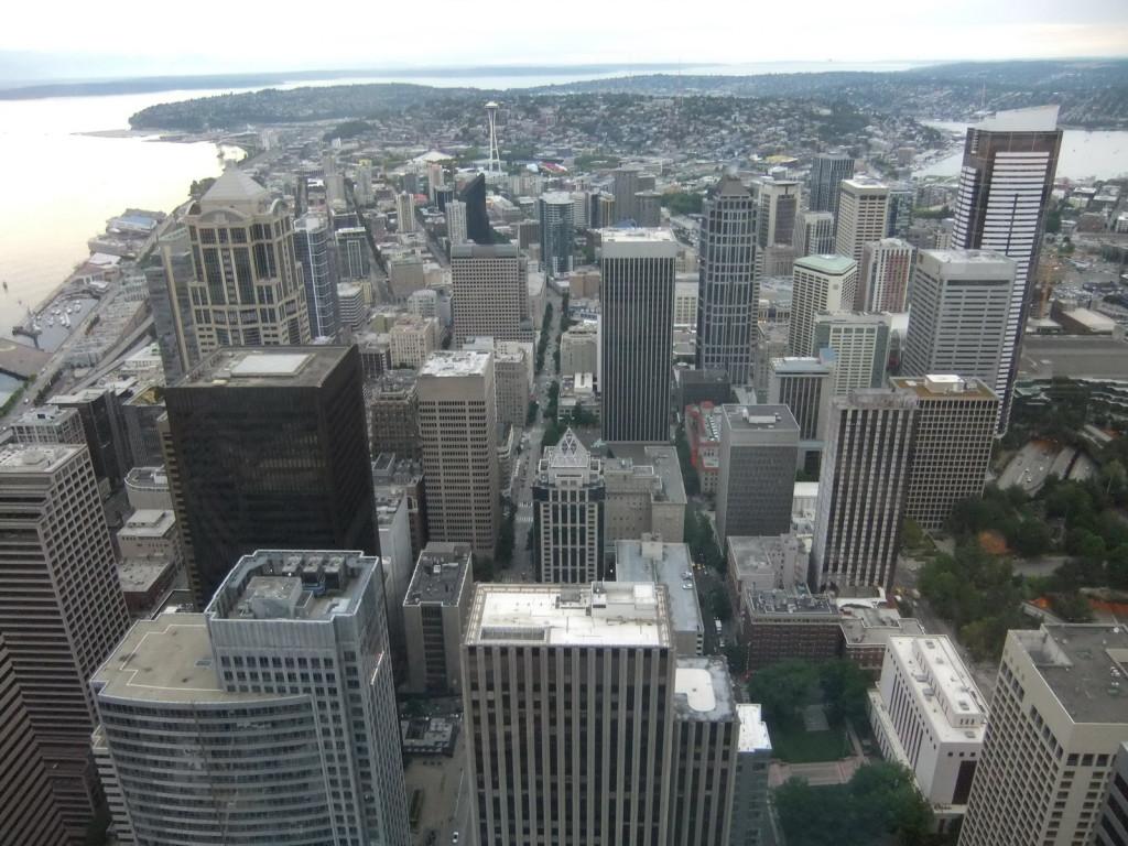 США, Seattle, Вид со смотровой площадки Columbia Center