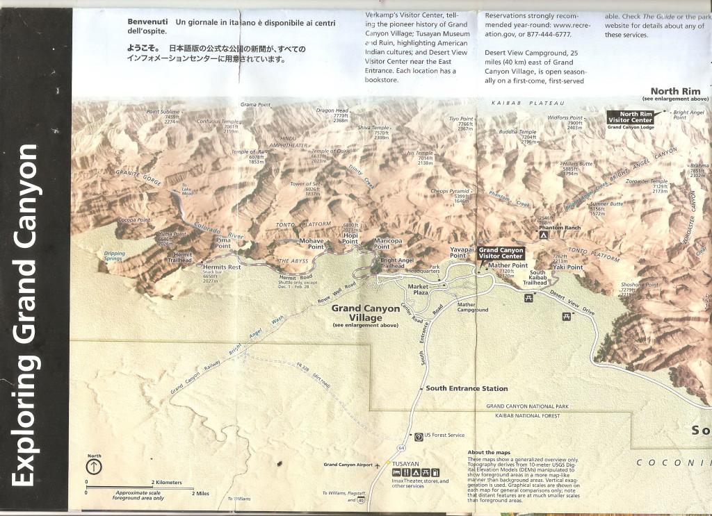 США, Grand Canyon (Гранд Каньон), схема