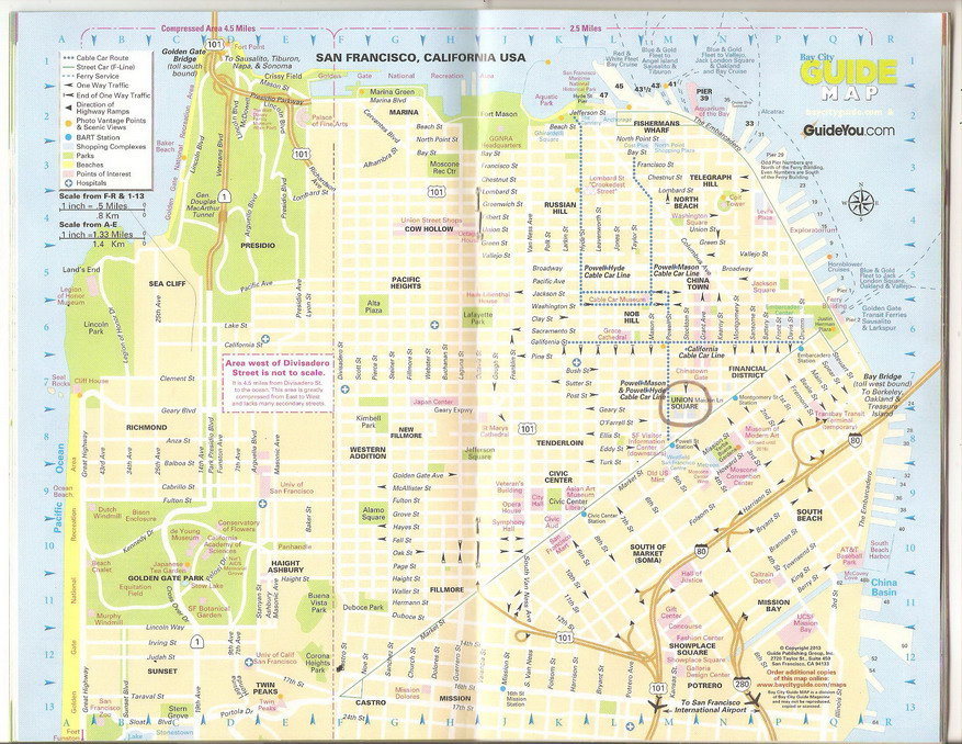 США, Сан-Франциско, карта
