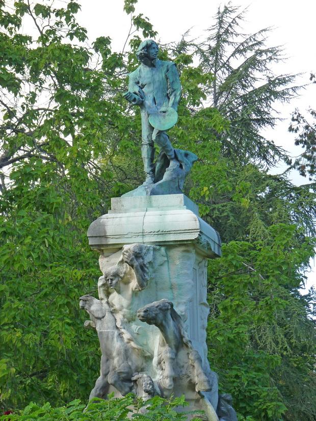 Франция, Нанси, парк Пепиньер, скульптура Родена
